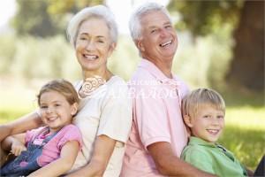 Бабушка и дедушка + внуки